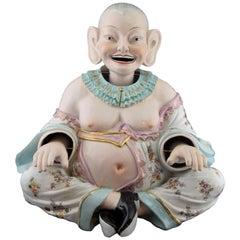 Oriental Nodding Porcelain Figurine, after 18th Century Models from Meissen