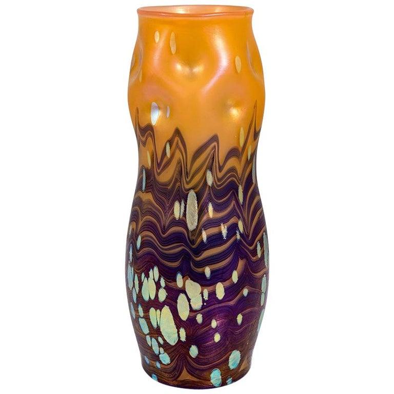 Johann Loetz Witwe Vase Decor Cytisus, 1902 For Sale