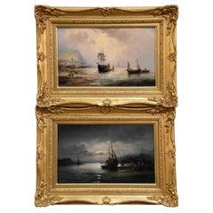 """""""Shoreham"""" and """"Scarborough"""" Pair by William Thornley"""