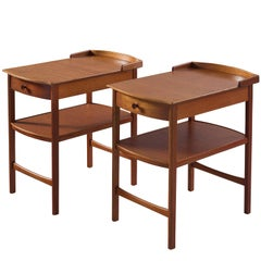 Carl Malmsten for Bodafors Mahogany Side Tables