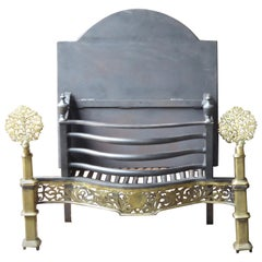 Exquisite English Art Nouveau Fireplace Grate, Fire Grate