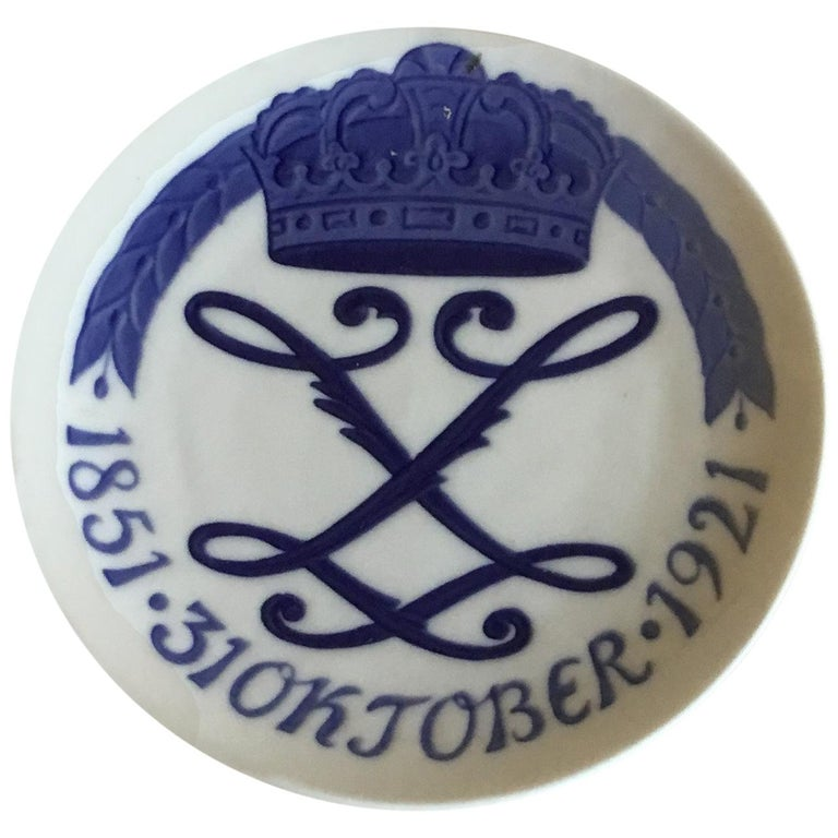 Royal Copenhagen Commemorative Plate from 1921 RC-CM202 For Sale