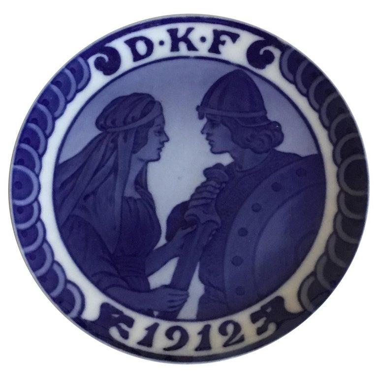 Royal Copenhagen Commemorative Plate from 1912 RC-CM136 For Sale