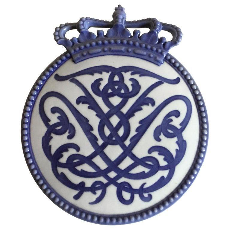 Royal Copenhagen Commemorative Plate from 1906 RC-CM60 For Sale