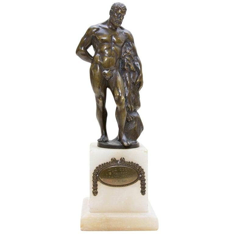 Austrian Bronze Figure of Hercules For Sale