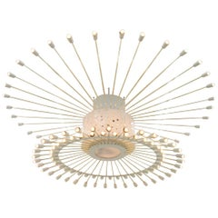 Spectacular Giant Sputnik Ceiling Lamp with 132 Bulbs, 1950s
