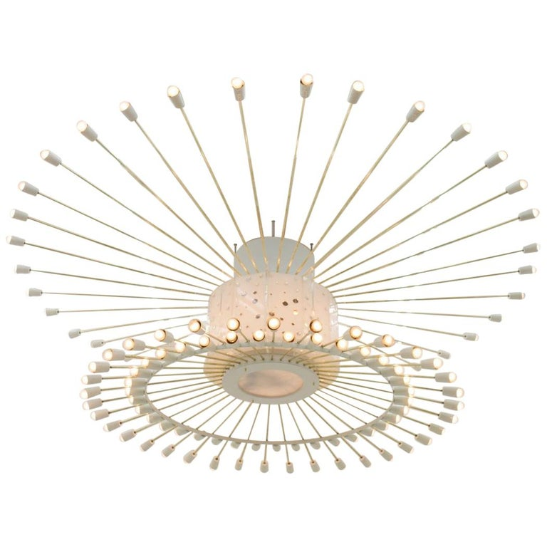 Spectacular Giant Sputnik Ceiling Lamp with 132 Bulbs, 1950s For Sale