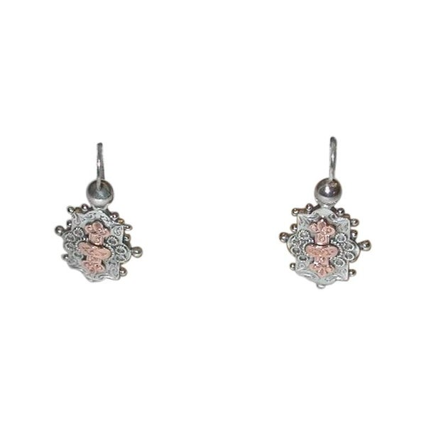 Pair of Victorian Silver Earrings, Dated, circa 1880