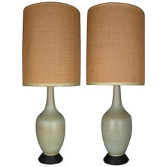 Pair of 1950s Italian Ceramic Lamps