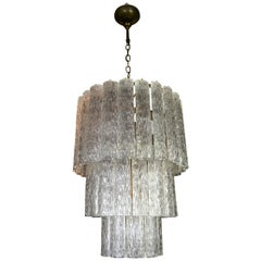 Sculptural Doria Chandelier with 50 Art Glass Tubes, 1960s , Germany