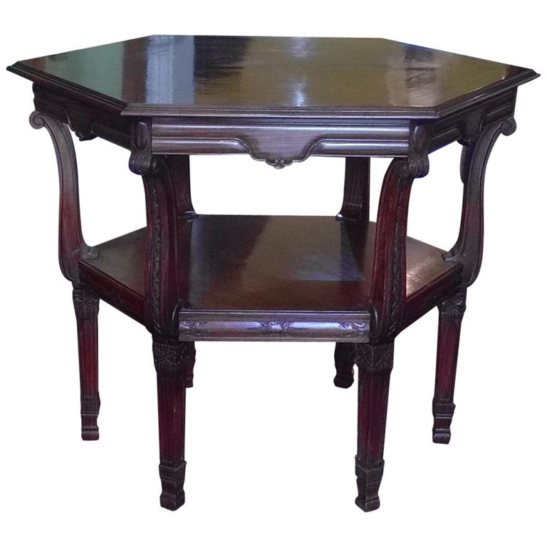Late 19th Century Rosewood Center Table For Sale