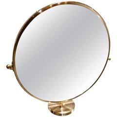 Josef Frank Brass Table Mirror, Stockholm, 1940