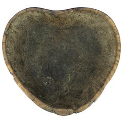 Early 19th Century Norwegian Wooden Heart Shaped Bowl