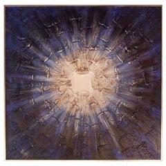 Radiant Blue Painting Framed