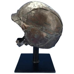Midcentury Solid Bronze Sculpture of a US Army Helmet