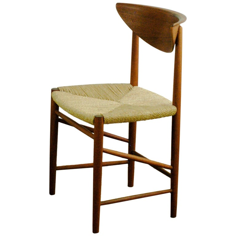 Scandinavian Modern Mod. 316 Teak Dining Chair by Peter Hvidt for Soborg For Sale