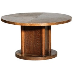 Modernist Coffee or Side Table in Oak, 1940s