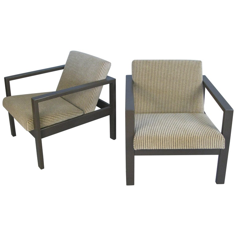 Pair of 1950s Lounge Chairs by Harvey Probber For Sale