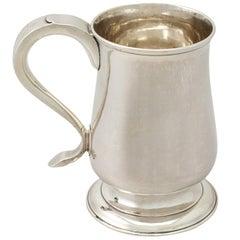 Georgian Newcastle English Sterling Silver Pint Mug