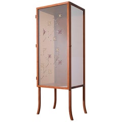 Brocade Cabinet Vitrine in Cabreuva Wood