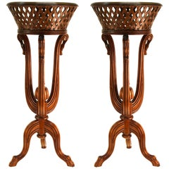 Victorian Revival Style Plant Stands in Wood
