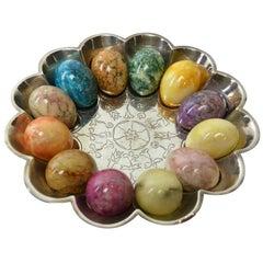 Silver Egg Bowl by Christofle and Cie Trésor Hildesheim, France, circa 1870