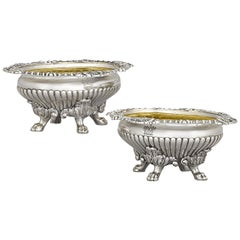 Regency Silver Salt Cellars by John Bridge