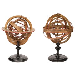 18th Century French Planetarium and Armillary Sphere by L.-C. Desnos, 1754