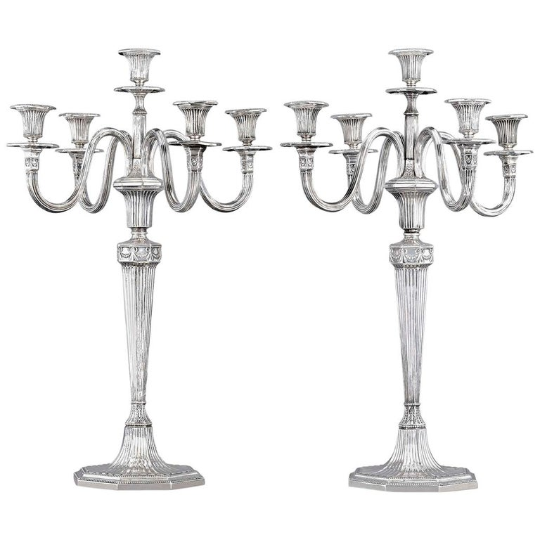 German Silver Candelabra by Bruckmann & Söhne For Sale