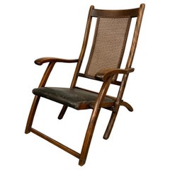 Late 19th Century Folding Maple Deck Chair