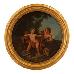 Italian 18th Century Neoclassical Oil on Canvas Painting
