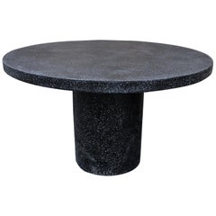 Cast Resin 'Spring' Dining Table, Coal Stone by Zachary A. Design