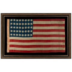 40 Canted Stars in an Orderly Phalanx, on an Antique American Flag