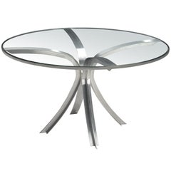 Xavier Féal Table in Glass and Steel, 1970
