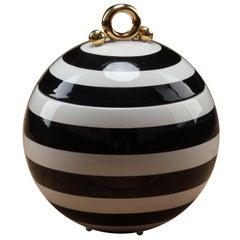 Striped Round Box