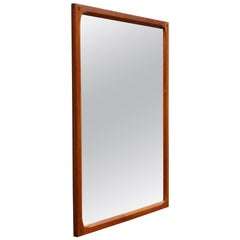 Scandinavian Handcrafted Teak Mirror with Intricate Joinery by Aksel Kjersgaard