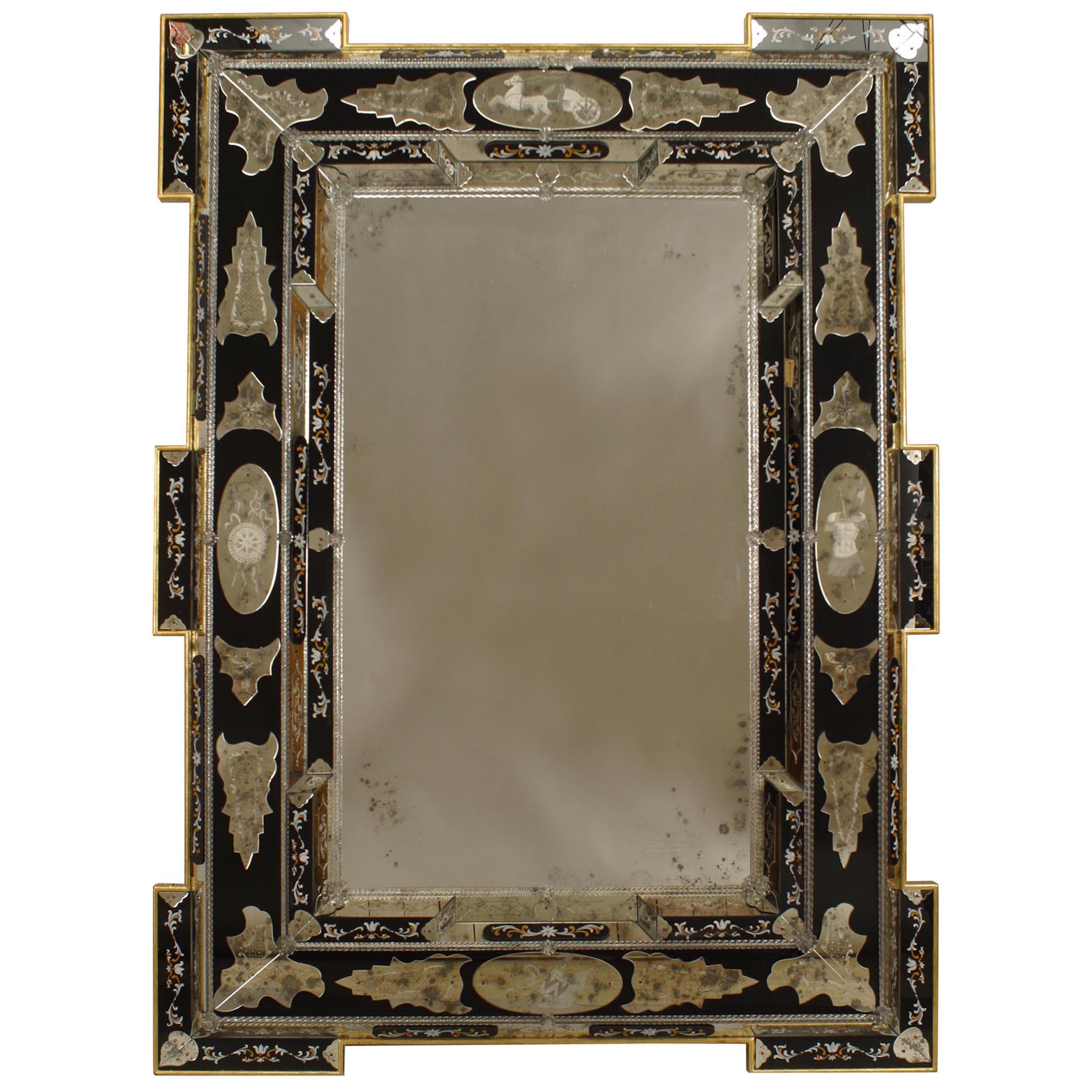 Italian Venetian Etched Wall Mirrors