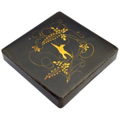 19th Century Japanese Lacquer Document Box