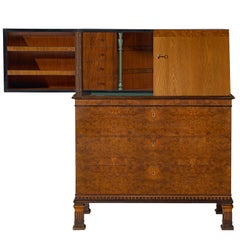 Erik Chambert Swedish Grace Secretary in Inlayed Wood