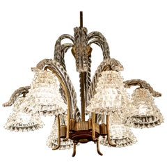 Art Deco Rostrato Murano Glass Chandelier by Ercole Barovier, 1940