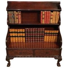 English Mahogany Regency Period Waterfall Bookcase