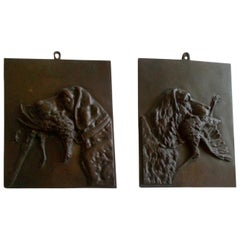 Pair of Early 20th Century Panels in Bronze, Italy
