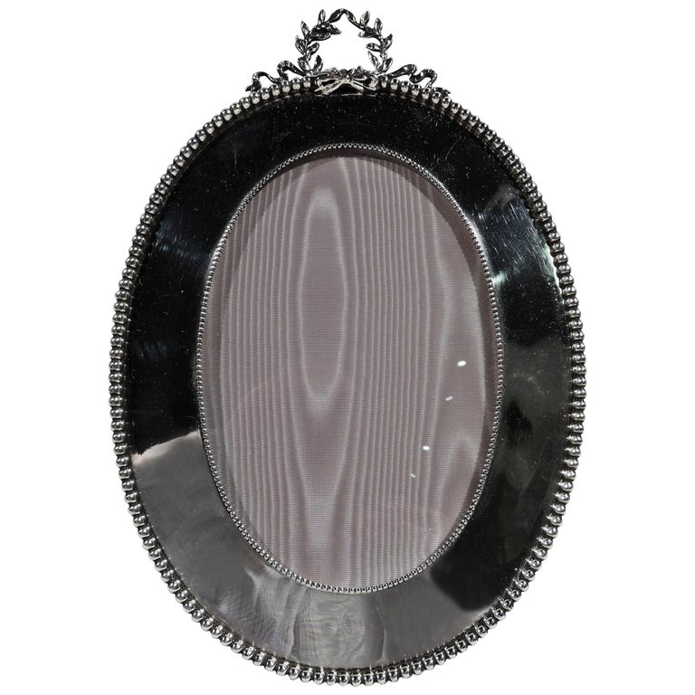 Antique American Classical Sterling Silver Picture Frame by Shiebler For Sale