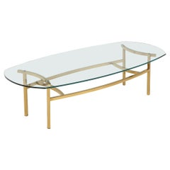 Bertha Schaefer Brass and Glass Cocktail Table for M. Singer and Sons