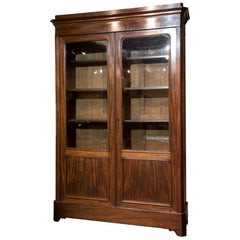 19th c French Two Door Mahogany Bookcase
