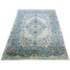 Pistachio Kashan Carpet Midcentury
