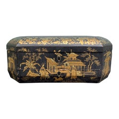 19th Century Chinoiserie Sewing Box
