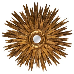 Gold Leaf Sunburst Mirror