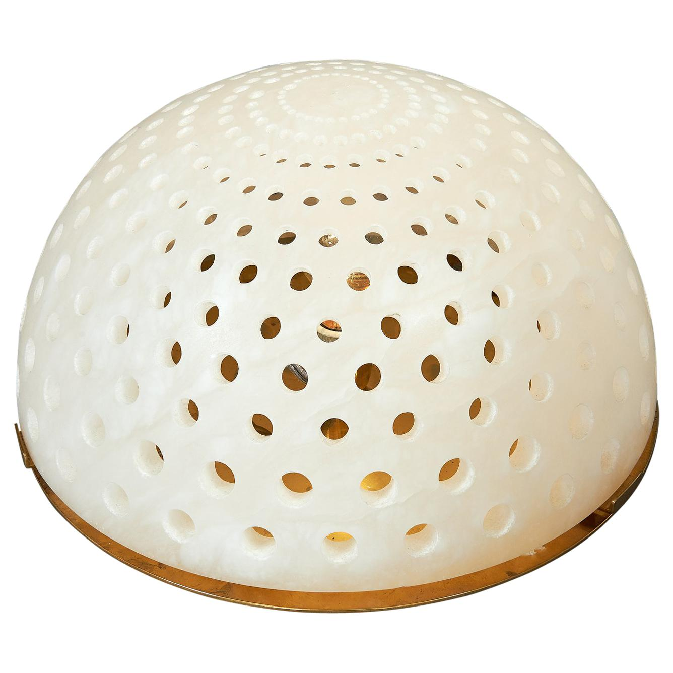Angelo Mangiarotti Alabaster Table Lamp, circa 1980