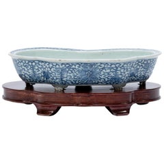 Early 20th Century Chinese Blue and White Ruyi Bulb Bowl